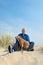 Stock Image : Man with dog