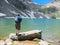 Stock Image : Man fishing on the lake