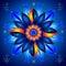 Stock Image : Mandala Talisman of Cosmic Energy Healing