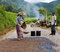 Stock Image : Manual road construction work in Burma