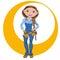 Stock Image : Manual working woman