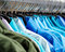 Stock Image : Many shirts hanging in color