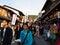 Stock Image : Many Shop and Travelers to Kiyomizu temple Kyoto , Japan