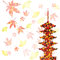 Stock Image : Maple autumn leaves Japan