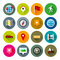 Stock Image : Maps and navigation icons – Fllate series