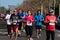 Stock Image : Marathon racers