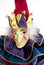 Stock Image : Mardi Gras Jack in the Box Clown