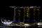 Stock Image : Marina Bay Sands integrated resort hotel and casino and ArtScience Museum Singapore Marina Bay