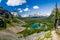 Stock Image : Mary Lake and Lake O`Hara Bird`s Eye View