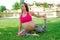 Stock Image : Maternity Yoga