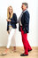 Stock Image : Mature man and young woman flirting