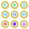 Stock Image : Media player buttons collection.