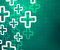 Stock Image : Medical Cross Green Background