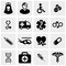 Stock Image : Medical icons set on gray