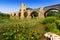 Medieval stone bridge over Ebro. Frias, Province of Burgos
