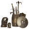 Stock Image : Medieval weapons and armour