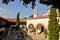 Stock Image : Megali Panagia monastery churchyard, Samos, Greece
