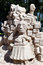 Stock Image : Men's head sand sculpture in the zoo of Helsinki, Finland