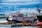 Stock Image :  Mening van de de kadehaven en scheepswerf
