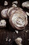 Stock Image : Meringue rose