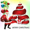 Stock Image : Merry christmas background wit santa claus