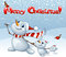 Stock Image : Merry Christmas card with snowmen family