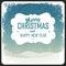 Stock Image : Merry Christmas Greeting Retro Card. Vector