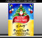 Stock Image : Merry christmas party flyer template