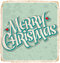 Stock Image : MERRY CHRISTMAS vintage card (vector)