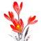 Stock Image : Metal flower