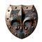 Stock Image : Metal Rustic Shield Fleur de lis