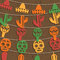 Stock Image : Mexican bunting decoration