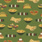 Stock Image : Mexican food pattern