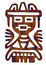 Stock Image : Mexican Pattern - Tribal Man Figure