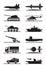Stock Image : Military equipment icon set