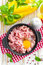 Stock Image : Minced meat with egg