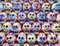 Stock Image : Mini Sugar Skull grouping