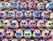 Stock Image : Mini Sugar Skull grouping