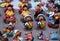 Stock Image : Miniature figures of Bolivian people