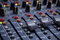 Stock Image : Mixing console at the recording studios