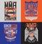 Stock Image : MMA t-shirt design emblem set