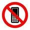Stock Image : Mobile Phone prohibited