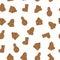 Stock Image :  Modelo inconsútil del pan de jengibre