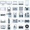 Stock Image : Modern electronic devices vector icons