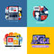 Stock Image : Modern flat vector concepts of social media marketing