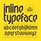 Stock Image : Modern inline typeface, alphabet