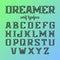 Stock Image : Modern serif typeface, alphabet