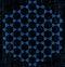 Stock Image : Moléculas hexagonales