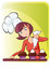 Stock Image : Mom cooking cupcake