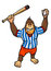 Stock Image : Monkey baseball player
